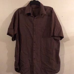 Perry Ellis XL Short Sleeve Button Down Casual